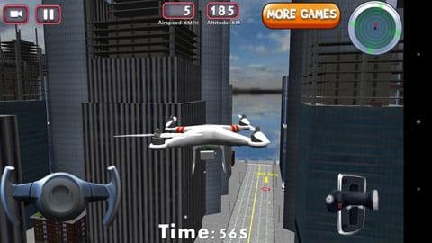 3Dドローンフライトシミュレータゲーム:目的地までドローンを飛行させよう