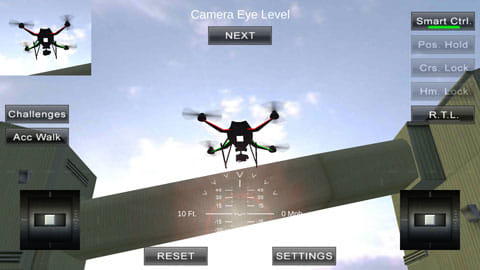 Quadcopter FX Simulator:ドローンの挙動をリアルに再現