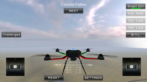 Quadcopter FX Simulator:グラフィックもリアルで満足感も高い