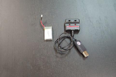 予備バッテリーと充電器