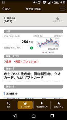 PICK UP! 株主優待-株主優待から銘柄検索:株価情報もチェックできる