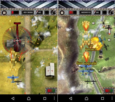 Air Fighter World Air Combat:オーソドックスな縦スクロール型シューティングゲーム。パワーアップしながら敵を倒していこう