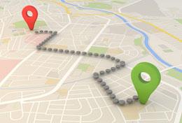 移動地点までの距離を正確に測るには?