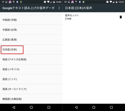 「日本語(日本)」→「音声セット」