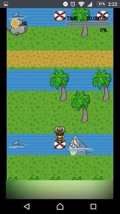 宝箱 ゲームでお小遣い稼ぎ!:サメに食べられる前に移動しよう