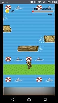 宝箱 ゲームでお小遣い稼ぎ!:丸太の動きを考慮して、どの浮輪に乗るかを考えておく