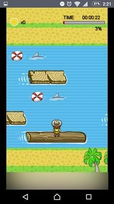 宝箱 ゲームでお小遣い稼ぎ!:太い丸太は壊れないが小さい丸太は壊れてしまう