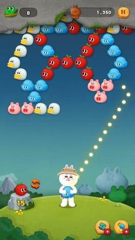LINE バブル2:狙いをさだめて目指せ5コンボ!