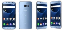 Galaxy S7 edgeのBlue Coral (ブルー コーラル)