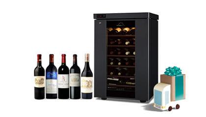 シャトーマルゴーなど人気銘柄のワインが揃ったセラーも登場