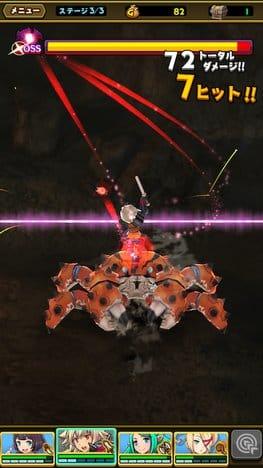 スマッシュ&マジック(スママジ):巨大ボスとの戦い。ただ闇雲に攻めるだけじゃなく、回復や防御キャラなど編成も重要。