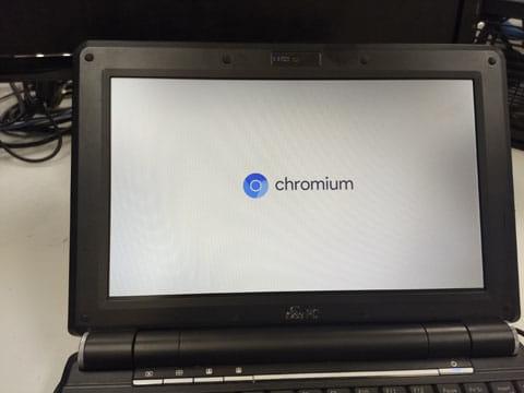 無事「Chromium」のアイコンが表示され起動!