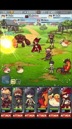 『Warrior Tales Fantasy(ウォリアーテイルズファンタジー)』:上のHPバーが水色になったら成功だ。