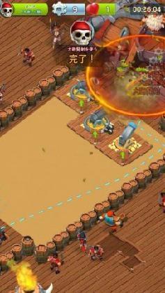 オレンジの円が、砲撃の攻撃範囲だ。