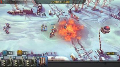 前線を兵士で停止させて継続ダメージ系の支援砲撃だ!