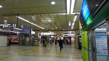新宿駅構内。アナログに戻った瞬間