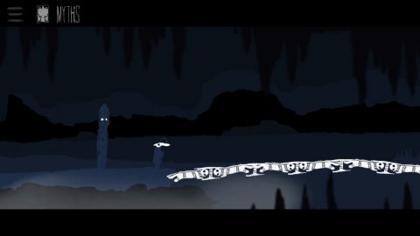 精霊たちが谷を渡る橋になってくれる。世界を切り替えて冒険を続ける。.jpg