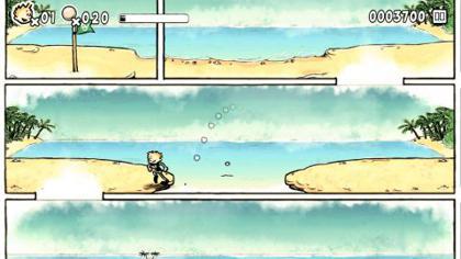 見た目こそユニークだけど、ゲームとしては王道の横スクロールアクション!障害をジャンプで乗り越えよう。.jpg