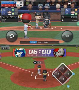 パワプロのようなデフォルメキャラだが、リアルな試合が楽しめる野球ゲームだ。.jpg