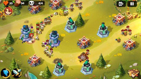 4つのタワーを配置して、敵の侵攻を阻止しよう!.jpg