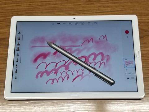 ペイントアプリ「SketchBook」でM-PEN使用例