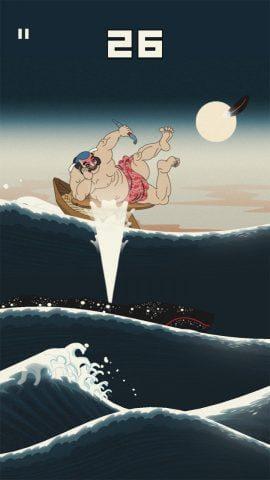 クジラの潮で上昇!月夜ステージからショートジャンプも加わってアクションに深みが出る。