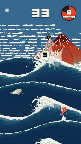 ジャンプ中に着地点を調整することで、波から波へと連続でジャンプすることが可能だ!.jpg