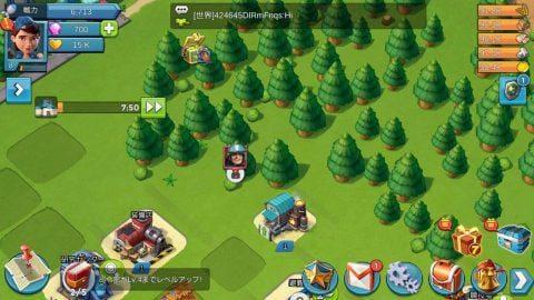 領地内を木が覆っていて建設できない!ソロバトルで敵を倒し、領地を切り開こう。