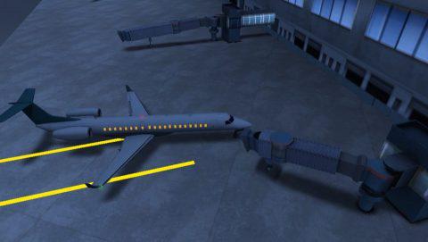 着陸ミッションのフルでは、搭乗口まで誘導するものもある。.jpg