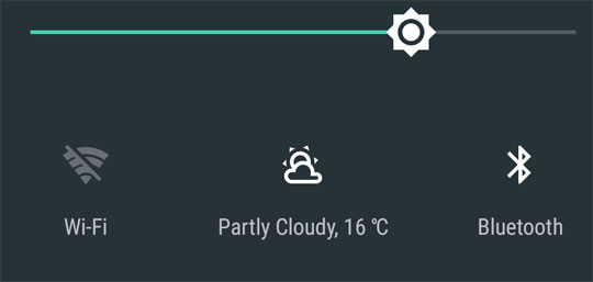 Weather - Quick Settings Tile