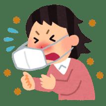 いらすとや:花粉症の女性